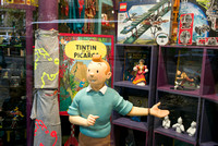 TinTin in Paris Shop Window