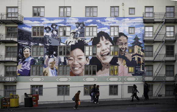 Chinatown Building Mural